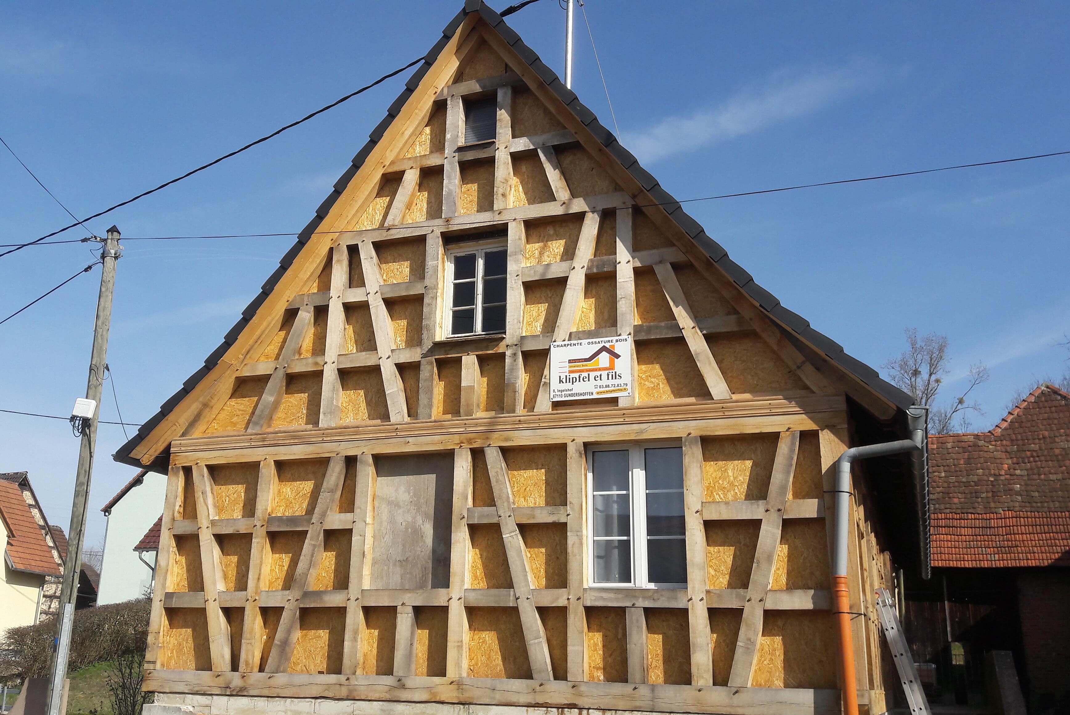 Rénover Une Maison Alsacienne maison à colombages - menuiserie klipfel